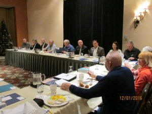 Legislators and Conservation District board and staff gather at Hilton Garden Inn on December 1, 2016 to discuss natural resource issues in impacting constituents in the Flathead Valley.
