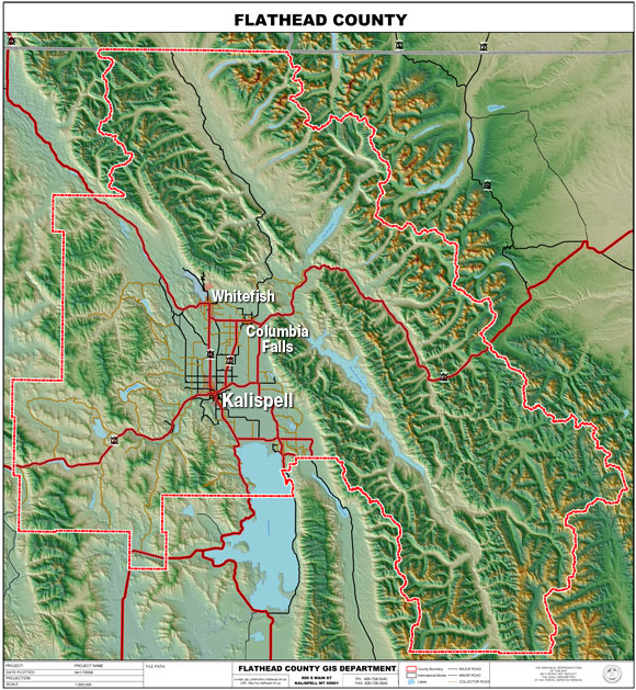 Flathead County Map : Flathead Conservation Districtflathead county